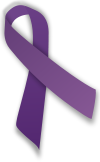 We supprt all the causes this ribbon represents.... pancreatic cancer, testicular cancer, thyroid cancer, domestic violence, ADD, alzheimer's, religious tolerance, animal abuse, the victims of 9/11 including the police and firefighters, Crohn's disease and colitis, cystic fibrosis, lupus, leimyosarcoma, and fibromyalgia